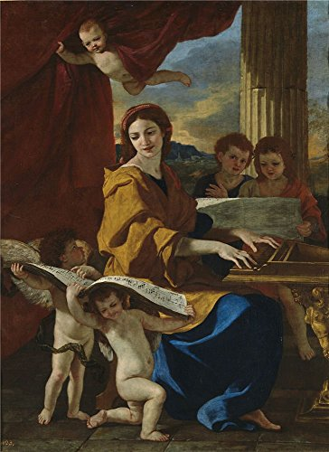 High Quality Polyster Canvas ,the High Quality Art Decorative Canvas Prints Of Oil Painting 'Poussin Nicholas Saint Cecile Ca. 1635 ', 8 X 11 Inch / 20 X 28 Cm Is Best For Gym Artwork And Home Decoration And Gifts