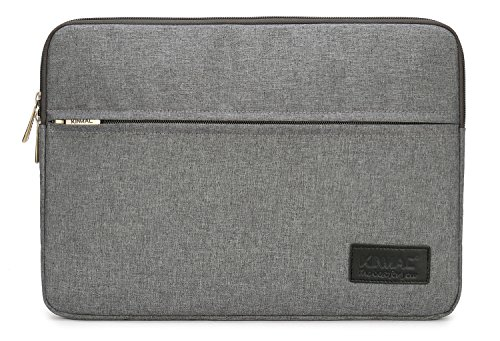 Kinmac Grey 15 inch Waterproof Laptop Sleeve with Pocket for 15 inch 15.6 inch Laptop and MacBook pro 15