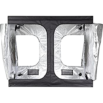 iPower 96 x48 x78  Hydroponic Water-Resistant Grow Tent with Removable Floor Tray for Indoor Seedling Plant Growing 4u0027x8u0027  sc 1 st  Amazon.com & Amazon.com : Hydro Hut Silver Edition Hydroponic Grow Tent - 4 X 6 ...