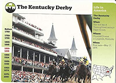 1995 Grolier, Story Of America Card, 26.10 The Kentucky Derby