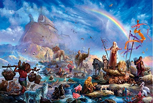 Coeus Wooden Puzzles-a Series of Mystery Religion Paintings- Noah's Ark,educational Games for Kids / Puzzles for Adults,1000 Pieces Jigsaw Puzzle