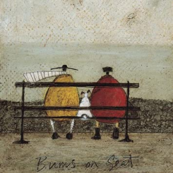 Bums on seat sam toft open greeting card st 322 amazon quot bums on seat quot sam toft open greeting card m4hsunfo