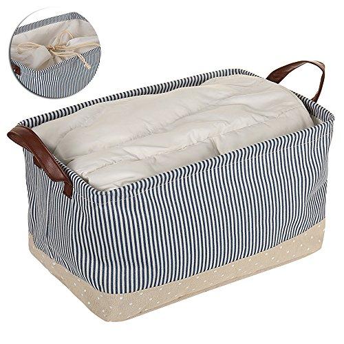 Windyus Cestas de almacenamiento para ropa, con dos asas, para clóset en casa, recámara, cajones, organizadores, plegables,...