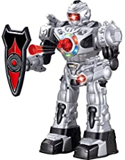 Large Remote Control Robot for Kids - Superb Fun Toy RC Robot - Remote Control Toy Shoots Missiles, Walks, Talks & Dances (10 Functions) by ThinkGizmos