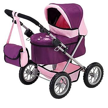 Bayer Design- Cochecito de muñeca, Trendy, Color Rosa, Lila (13057)