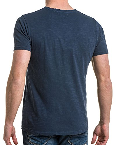 American shirt Bleu People Imprimé Flammé Rock Tee Délavé xxwCr