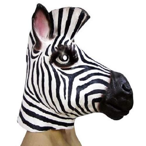 Mascara Zebra Sulamericana Fantasias Branco/Preto Único