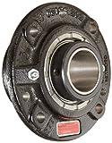 Link-Belt FCB22428H Spherical Roller Bearing Piloted Flange Unit, 4 Bolt Holes, Relubricatable, Non-Expansion, Cast Iron, Spring Locking Collar, Inch, 1-3/4'' Bore Diameter