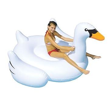 Juguetes gigantes para nadar - Balsa flotante inflable de la piscina del cisne - Juguete inflable