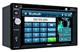 Jensen VX3022 2 DIN Multimedia Receiver, 6.2-Inch Touch Screen with Bluetooth, and Built-in USB Port (Black)