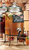 Home Essentials 1.5 gal. Dispenser with Stand and Blackboard
