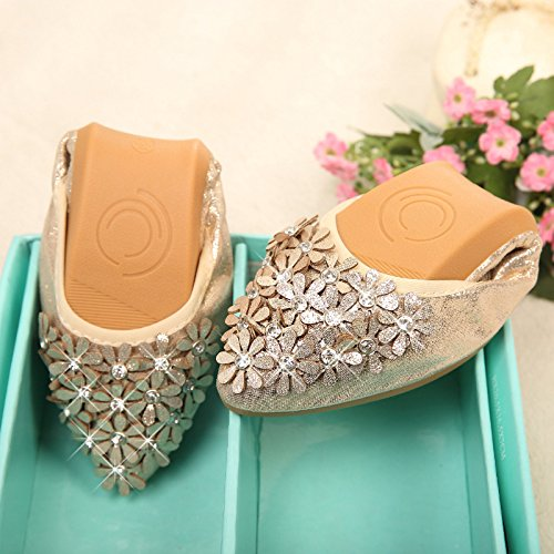 new 45 women's Gold code dancing Donyyyy small shoes ballet shoes children's 41 shoes size code training Floral 2018 Thirty Big three big girls' shoes leisure x6n64w