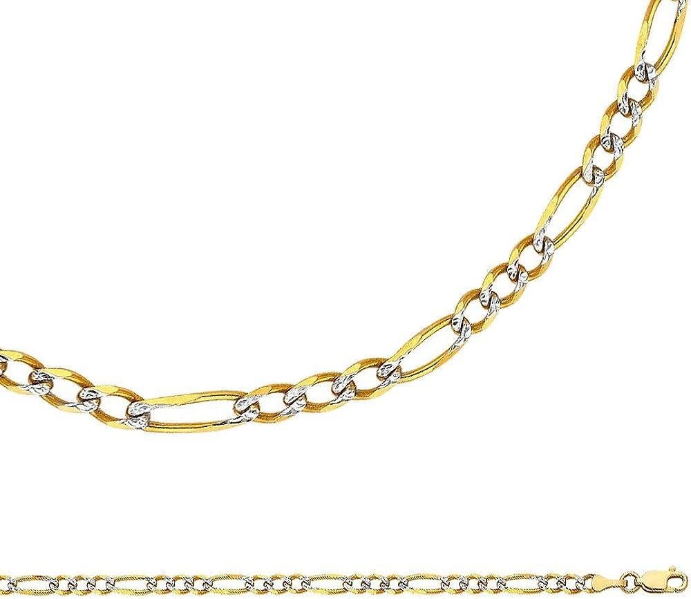 Figaro Chain Solid 14k...