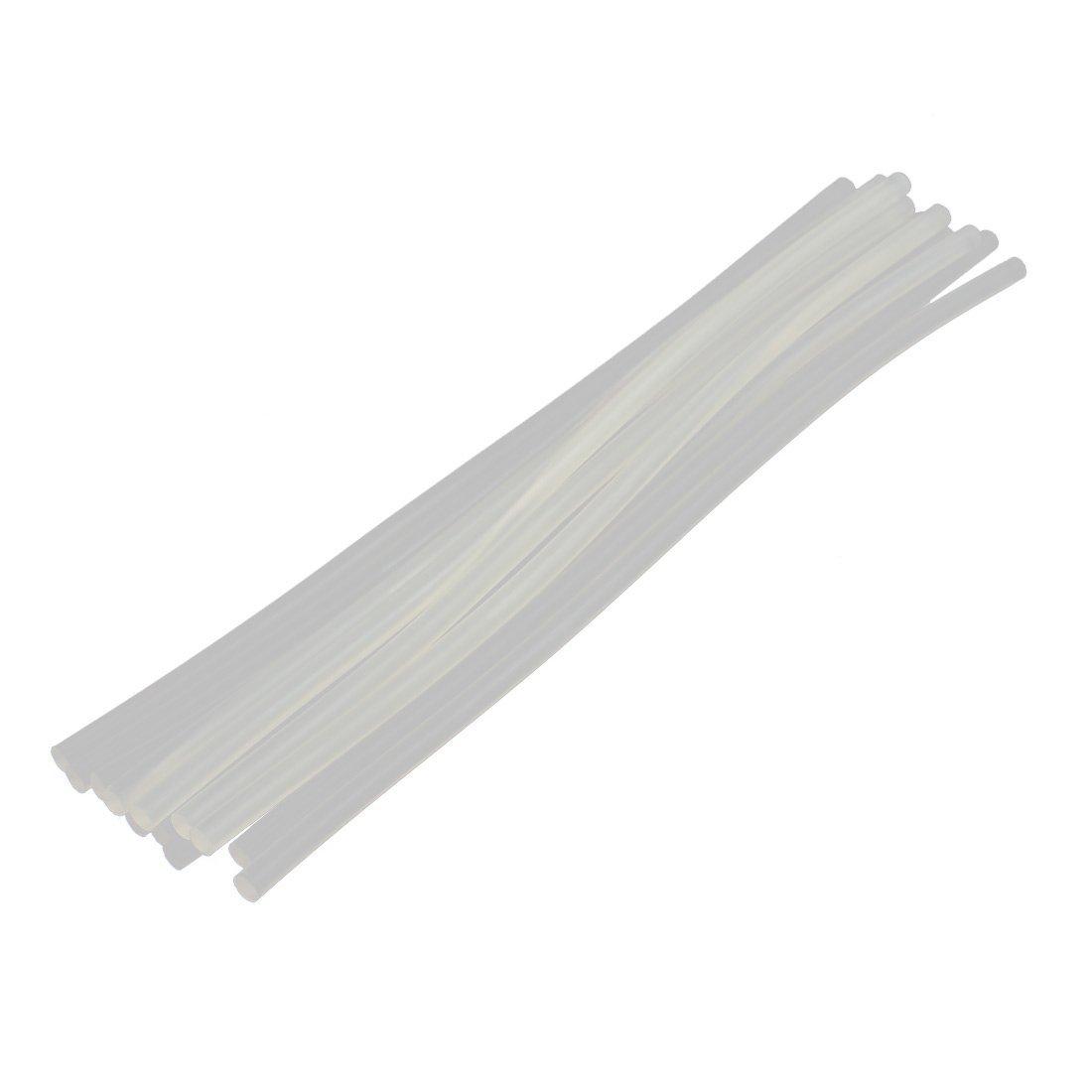eDealMax 12 PC blanca translucidez 7 mm Diámetro de soldadura de hierro fundido en caliente barra de pegamento 298 mm Longitud - - Amazon.com