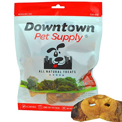 Downtown Pet Supply Jumbo Pig Snouts for Dogs Made in USA - Single Ingredient, Healthy, All Natural Pork Chews, Great Digestible Treat for Small, Medium and Large Dogs (8 PK)