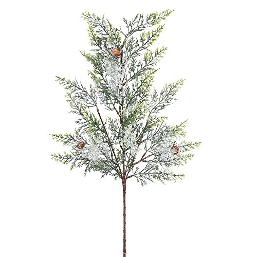 Vickerman Cedar Pine Spray with Snow Cones & 29 PE Tips, 29