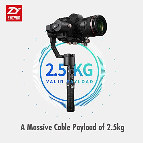 Zhiyun Crane Plus (2018 New Upgraded version Crane-Plus) Estabilizador de cardán manual de 3 ejes 2.5KG 5.5lb Carga útil...