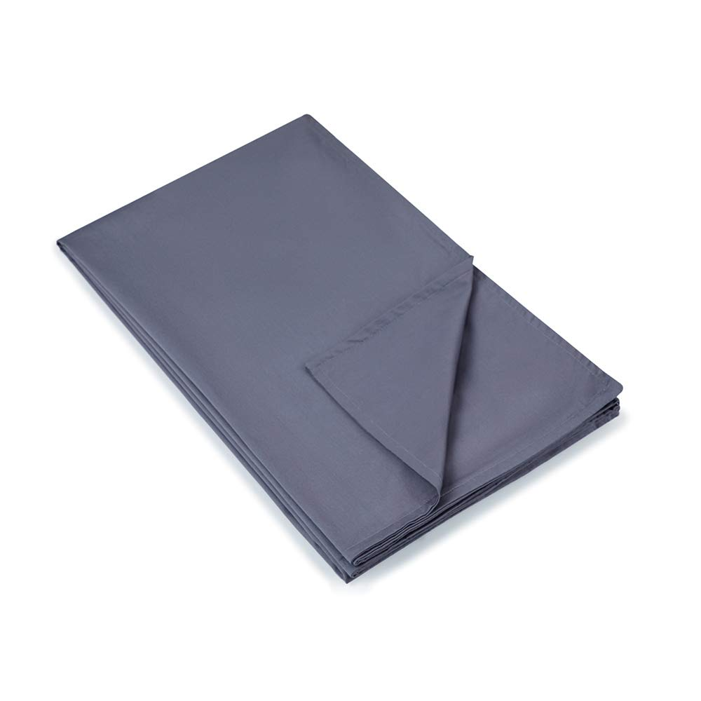 Weighted Idea Cooling Removable Cover 48''x78'' for Weighted Blanket   Dark Grey   Cotton Duvet Cover