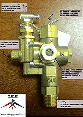 Air Compressor Pilot check valve unloader combination gas discharge 140-175 NG5