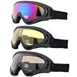Ski Goggles, Yidomto Pack of 3 Snowboard Goggles for Kids, Boys, Girls, Youth, Mens, Womens, with UV Protection, Windproof, Anti Glare