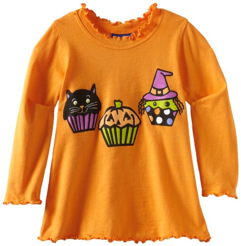 Flap Happy Baby Girls' Silk Screened Lettuce Edge Tee
