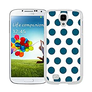 New Style View Window Design Smart Cover For Samsung Galaxy S4 i9500 Polka Dot White and Dark Green Watercolor Samsung Galaxy S4 i9500 Case White Cover