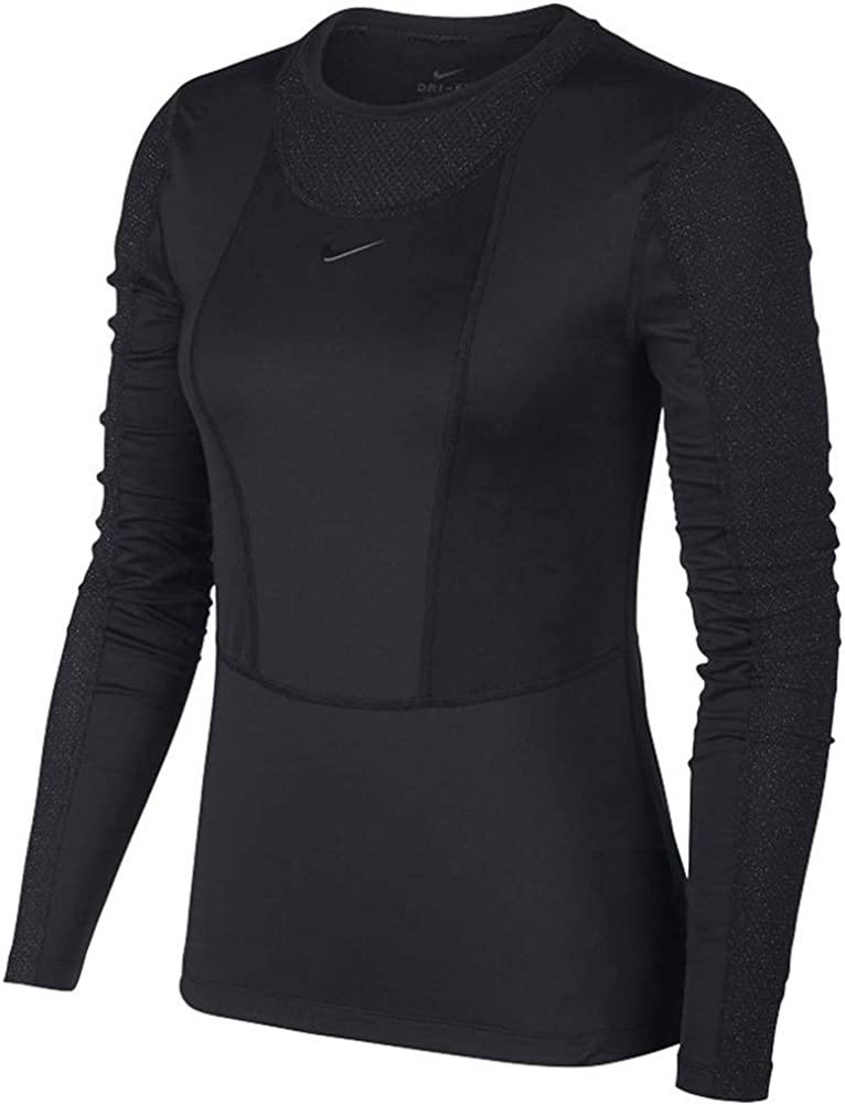 cocaína lo mismo Interesante  Nike Pro Warm Women's Long-Sleeve Top Bv3392-010 at Amazon Women's Clothing  store