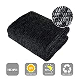 Agfabric 50% Sunblock Shade Cloth Cover with Clips for Plants, 12x20ft Black