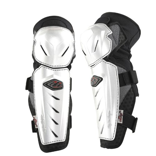 (Troy Lee Designs Lopes Signature Knee Guard White, XS/S)