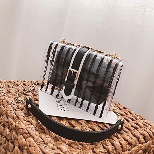 fée Sac Petit marée de Diagonale Femme Version Paquet de coréenne Noir de d'été la Sac féminine la WSLMHH bandoulière Transparente Sauvage Fq5aUwOOT
