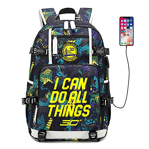 Basketball Player Star Curry Multifunction Backpack Travel Student Backpack Fans Bookbag for Men Women (Style 6)