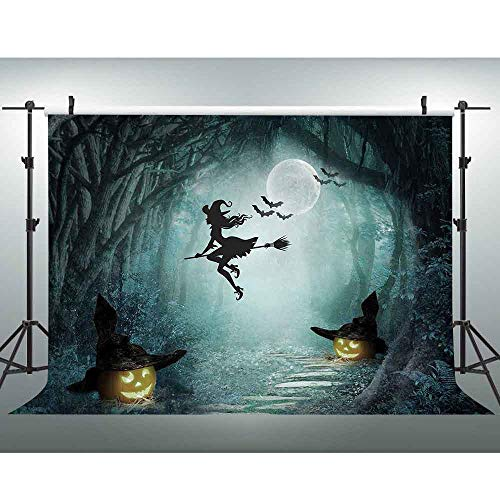 VVM 10x7ft Halloween Backdrop Pumpkin Spooky Forest Halloween Carnival Party Decoration GYVV663