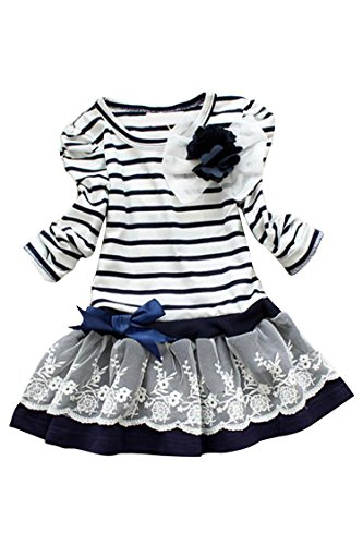 blau-grun-little-girlsstriped-flower-long-sleeve-multilayer-ruffled-party-dress-navy-blue-1-130cm