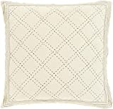 """26"""" Quilted Elegance Captain White and Platinum Gray Cotton Euro Sham"""