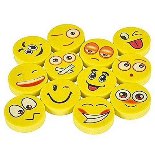 Nice 144 Emoji Erasers - Assorted Smile Face Emoticon supplier