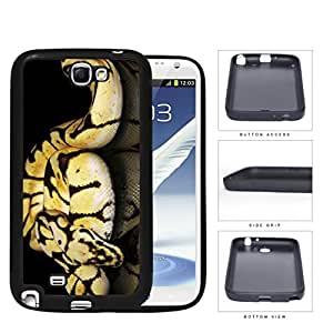 Ball Python Snake On Mirrored Surface Rubber Silicone TPU Cell Phone Case Samsung Galaxy Note 2 II N7100