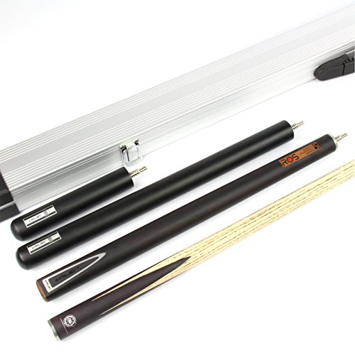 Maple Spliced Shaft (Riley Hand Spliced Ronnie O`Sullivan MASTERS L8 World Champion Steel Series Ash Snooker Cue, 2 Exts & ALLY CASE)