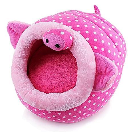 Cama de princesa para gatos y perros pequeños, Generic, con diseño de cerdito: Amazon.es: Productos para mascotas