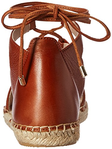 Cole Kenneth Beverly Leather York Cognac Women's New Flat pqqFzx6w