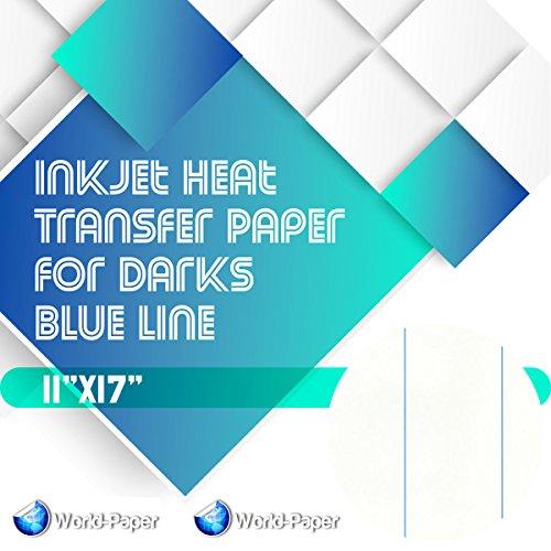 Inkjet Heat Transfer Paper for Darks Blue Line 11