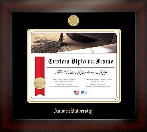 Celebration Frames Auburn University 13 x 17 Mahogany Finish Infinity Diploma Frame - Diploma Auburn Frame