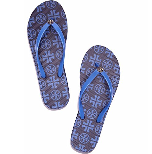Tory Burch Thin Flip Flop Style 32158638 Navy Sea New Tra, Navy Sea New Traveler