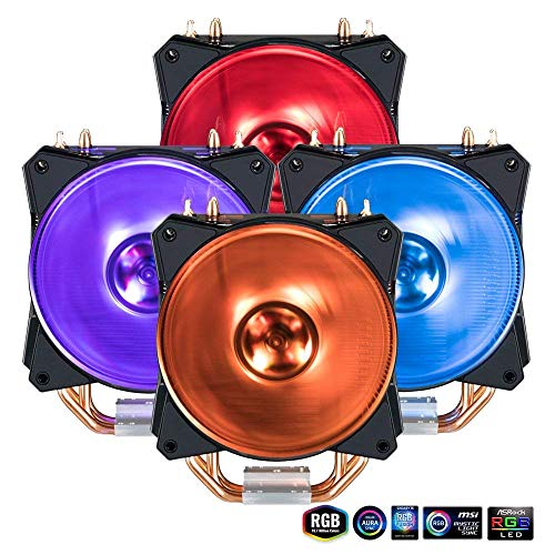 Cooler Master MA410P RGB CPU Air Cooler 4 CDC Heat Pipes Mas