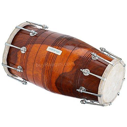 Maharaja Musicals Dholak Drum, Professional, Sheesham Wood, Bolt-tuned, Padded Bag, Dholki Instrument (PDI-ABI) by Maharaja Musicals