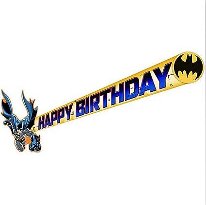 Amazon.com: Batman Happy Fiesta de cumpleaños banner-1 pieza ...