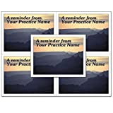 Laser Reminder Postcards, Customizable Dental Appointment Reminder Cards. 4 Cards Perforated for Tear-Off at 4.25'' x 5.5'' on an 8.5'' x 11'' Sheet of 8 Pt Card Stock. DEN301LZC (2500)