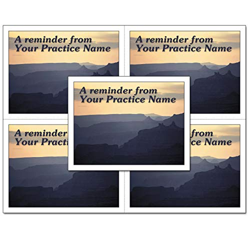 Laser Reminder Postcards, Customizable Dental Appointment Reminder Cards. 4 Cards Perforated for Tear-Off at 4.25'' x 5.5'' on an 8.5'' x 11'' Sheet of 8 Pt Card Stock. DEN301LZC (2500) by Custom Recall (Image #3)