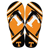 NCAA Tennessee Volunteers Unisex Big Logo Flip Flops X-Small (W 5-6)