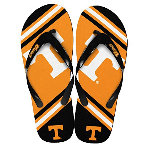 NCAA Tennessee Volunteers Unisex Big Logo Flip Flops X-Small (W 5-6) by NCAA