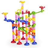 Marble Run Set 105 PCS,NextX Marbles Race Game Learning Railway Construction Maze Toy and Construction Game,Christmas Gift for Boys and Girls